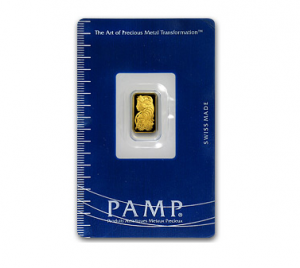 A 1 Gram Gold Bar from PAMP Suisse