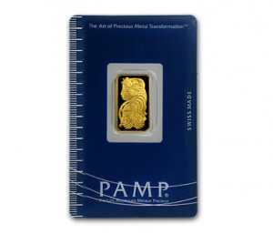 A 2.5 Gram Gold Bar from PAMP Suisse