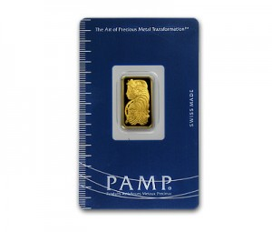 A 5 Gram Gold Bar from PAMP Suisse