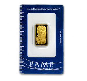 A 10 Gram Gold Bar from PAMP Suisse