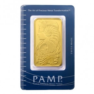 A 100 Gram Gold Bar from PAMP Suisse