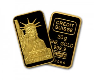 A 20 Gram Gold Bar from Credit Suisse