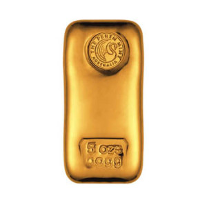 A 5 oz Gold Bar from the Perth Mint