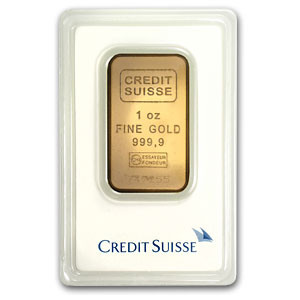 A Credit Suisse 1 oz Gold Bar