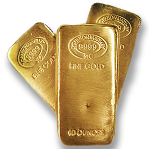 A 10 oz Gold Bar from Johnson Matthey