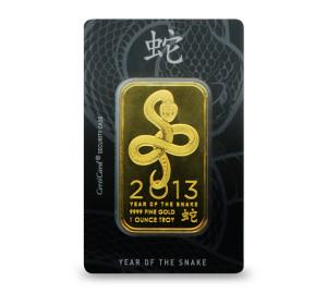 1 oz OPM Snake Gold Bar